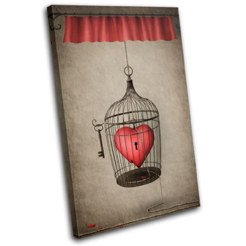 Heart Cage Red Love - 13-0108(00B)-SG32-PO